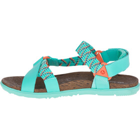 Merrell W's Around Town Sunvue Woven Sandals Turquoise